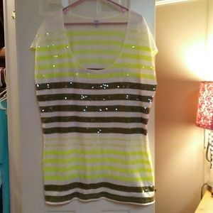 Old Navy Striped Sequined Top